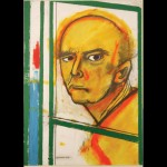 Self-Portrait with Easel (Yellow and Green), 1996, óleo sobre tela, 46x35cm