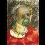 Self-Portrait (Red), 1996, técnia mista no papel, 46.5x33cm