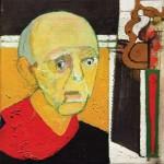 Self-Portrait with Saw, 1997, óleo sobre tela, 35.5×45.5cm