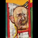Self-Portrait (with Easel), 1998, óleo sobre tela, 35.5x25cm